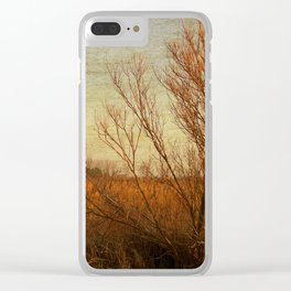 Orange winter Clear iPhone Case