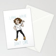 Long Hair Don't Care Stationery Cards