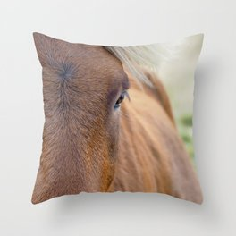 The Brown One. Throw Pillow
