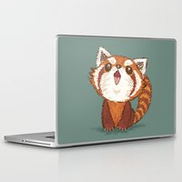 red panda Laptop & iPad Skins featuring Red panda by Toru Sanogawa