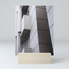 brutalist concrete architecture Mini Art Print