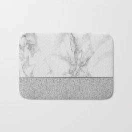 Marble + Glitter #1 Bath Mat