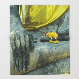 Buddha in Thailand Throw Blanket