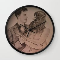 "witchcraft Wall Clocks featuring ""Witchcraft"" - Fifty Shades of Grey by Virginieferreux"