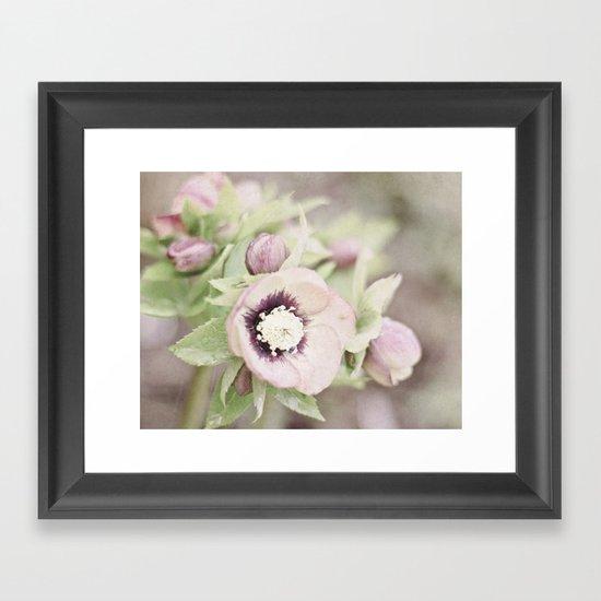Pastel Flowers Framed Art Print