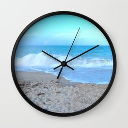 Blue Morning Wall Clock