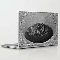 sofa Laptop & iPad Skins featuring sleeping cat on sofa by gzm_guvenc