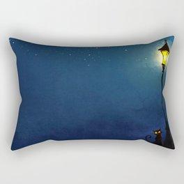 The Light Post and the Cat Rectangular Pillow