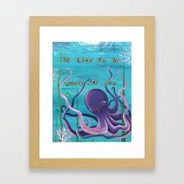I'd Like To Be Under The Sea, Octopus Garden Framed Art Print