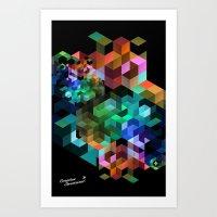 tetris Art Prints featuring TETRIS by Creative Streetwear