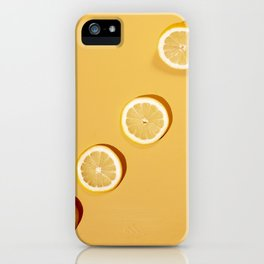 Yellow Lemons iPhone Case