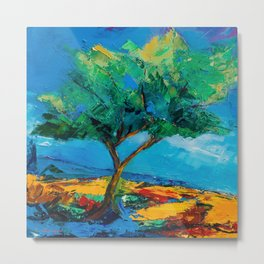 Lonely Olive Tree Metal Print