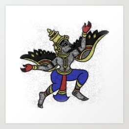 Guardian Angel - YOGA - Yaksha / Yakshini Art Print