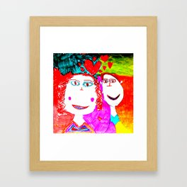 LOVE iN CHiLDHOOD Framed Art Print