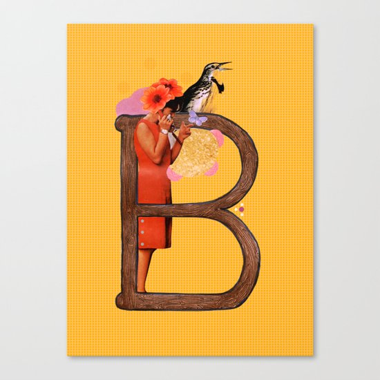 "A TO Z - ""B"" Canvas Print"