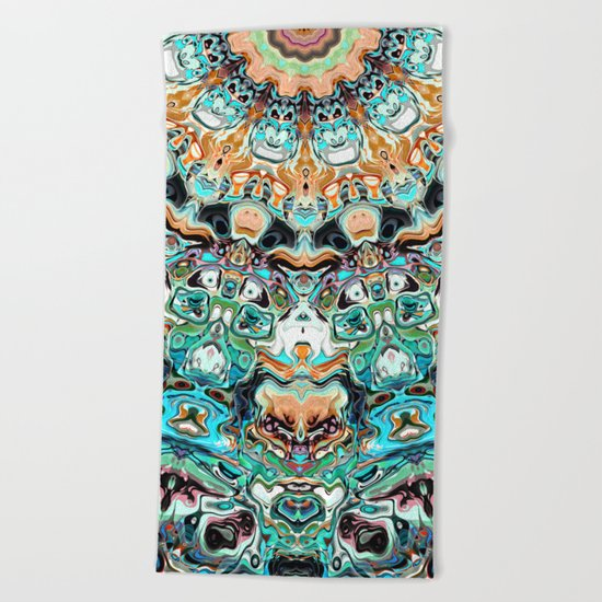 Abstract Colorful Pattern Beach Towel