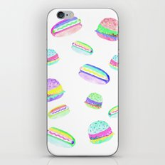 Colorful Hot-Dog and Burger Pattern iPhone & iPod Skin