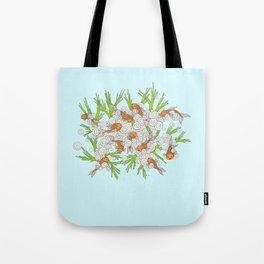 goldfishes blue Tote Bag