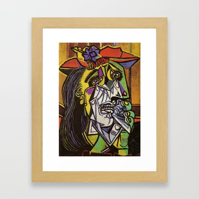 THE WEEPING WOMAN - PICASSO Framed Art Print