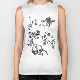 Botanical #CHERRIES Biker Tank