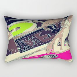DJ Spinz Rectangular Pillow
