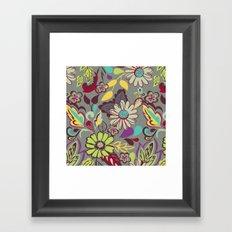 Large Bright Blooms Framed Art Print