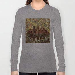 pittsburgh city skyline Long Sleeve T-shirt