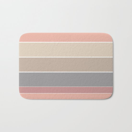 Simple striped pattern in pastel colours . Bath Mat
