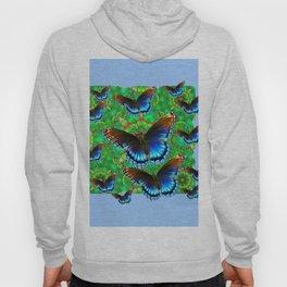 EXOTIC BLUE-BROWN BUTTERFLY ART Hoody