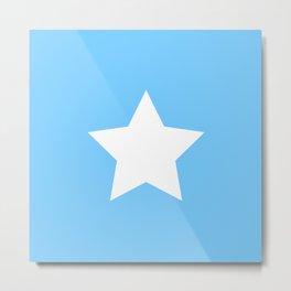Falling Stars (blue star pattern) Metal Print