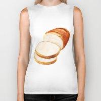 bread Biker Tanks featuring White bread by Nadezhda Shoshina