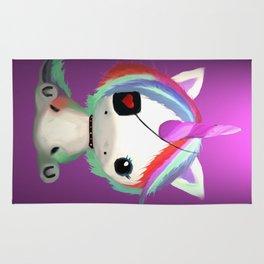 Punky Pony - Purple Rug