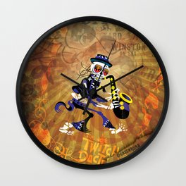 Winston - Sax. The Twitch Doctors Wall Clock