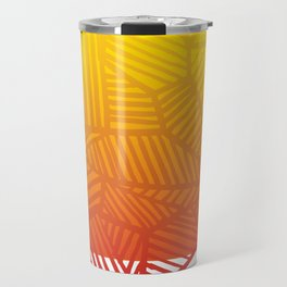 Angled lines - Pattern - Ombre Travel Mug