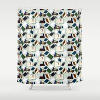 books Shower Curtains featuring Books by S. Vaeth