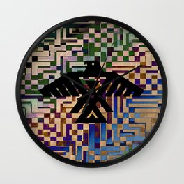 Eagle Totem Wall Clock