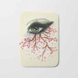 Sketch of an Eye with sakura Bath Mat