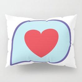 Valentine heart text balloon Pillow Sham