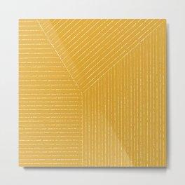 Lines / Yellow Metal Print