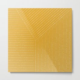 Lines / Yellow Metal Print