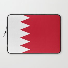 The flag of the Kingdom of Bahrain - Authentic version Laptop Sleeve