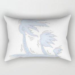 blowin' blue Rectangular Pillow