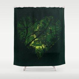 Heart of Darkness Shower Curtain