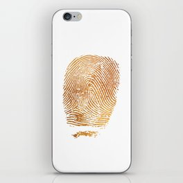 Gold Fingerprint iPhone Skin