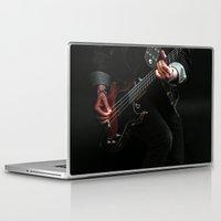 europe Laptop & iPad Skins featuring Europe Guitarist by Sharon J