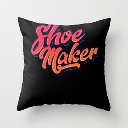 Shoemaker Shoes Tool Gift Throw Pillow