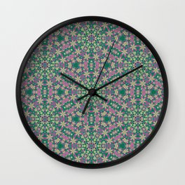 YELLO! Pink Flowers On The Lawn Wall Clock