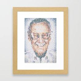 Stan Lee. Framed Art Print