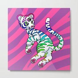 Clairvoyant Tiger Cub Metal Print