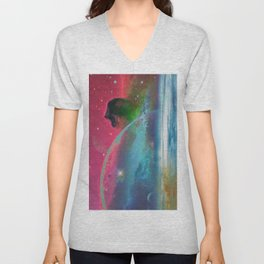 Behind the mirror Unisex V-Neck